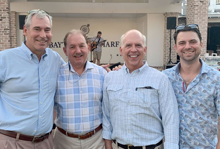 Left to Right: Dr. Gabianelli (Georgia Eye Partners), Dr. Chapman (Gainesville Eye), Dr. Mitchell (Montgomery Eye Partners), and Dr. Evan Schoenberg (Georgia Eye Partners)